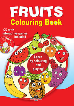 Fruits colouring book